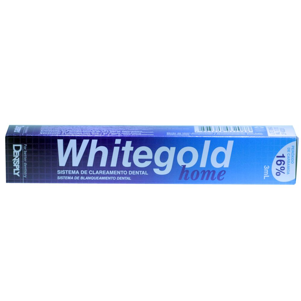 Clareador Whitegold Home 16 Seringa Dentsply Na Dental Odonthomaz