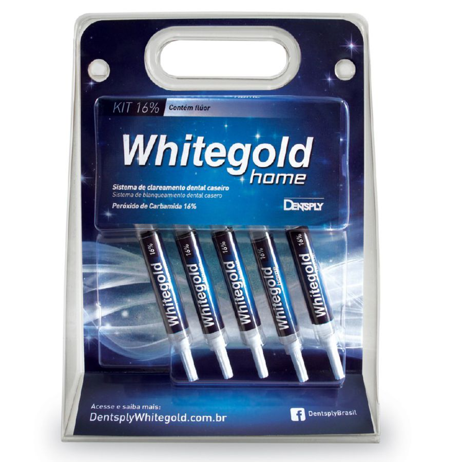 Clareador Whitegold Home 16 C 5 Seringa Dentsply Na Dental Odonthomaz
